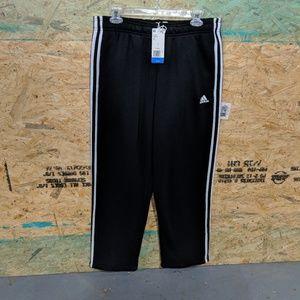 NWOT MEN'S ADIDAS 3 STRIPE Fleece Pants Large